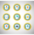 Trophy and awards icons in flat design style vector image