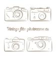 set of vintage film photocameras vector image