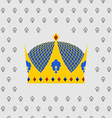 Royal Crown of gold with precious stones vector image