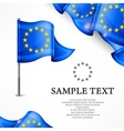 European flag banners with vector image vector image