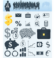 business a collection vector image