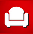 chair icon vector image
