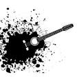 Grunge guitar vector image