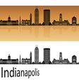Indianapolis skyline in orange vector image