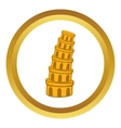 Pisa Tower icon vector image