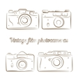 set of vintage film photocameras vector image