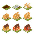 stage construction house set isometric view vector image