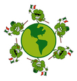 St Patricks day clovers cartoon vector image vector image