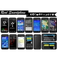 REAL SMARTPHONE MEGA COLLECTIONS vector image