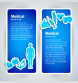 medical banner set vector image