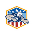 American Football Running Back Fend-Off Crest vector image