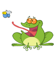 Frog Catching A Fly vector image vector image