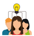 community social network icon vector image