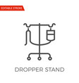 dropper stand icon vector image