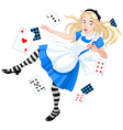 Falling Alice vector image