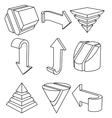 Geometric Shapes and Arrows vector image