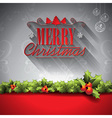 Holiday design on a Christmas theme vector image