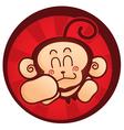 monkey mascot vector image