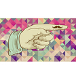 Retro hipsters human hand vector image