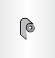 toilet paper roll icon clipart vector image