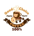 Coffee icon Cafe advertising signboard vector image vector image