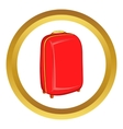 Red travel suitcase icon vector image