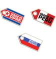 label Made in North Korea Peru Russia vector image