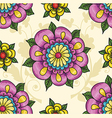 pattern with flowers on a yellow background vector image vector image