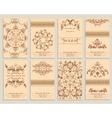 Set booklet design template floral ornamental vector image