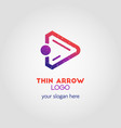 colorful right arrow business logo template using vector image