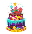 happy birthday cake vector image
