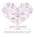 Merry Christmas postcard vector image