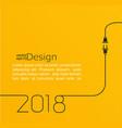 new year 2018 plug and socket vector image