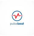 pulse beat logo vector image