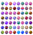 set of decorative glass beads vector image
