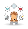 technical service and call center icon design vector image