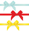 Ribbon three bows vector image
