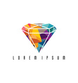 Abstract colorful triangle geometrical diamond vector image