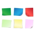 colored empty papers vector image vector image
