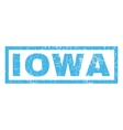 Iowa Rubber Stamp vector image