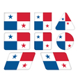 buttons with flag of Panama vector image