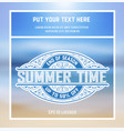 summer time card vector image