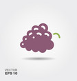 bunch of grapes flat icon with vector image