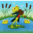 Frog plays the violin vector image vector image