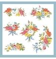 Set of Baroque Bouquet Wildflowers vector image