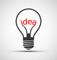 icons light bulb with the word idea vector image