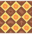Seamless texture with Australian aboriginal art vector image