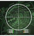 Drone Radar Screen vector image