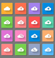 Set of flat cloud icons vector image vector image