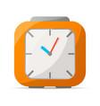 analog alarm clock icon vector image